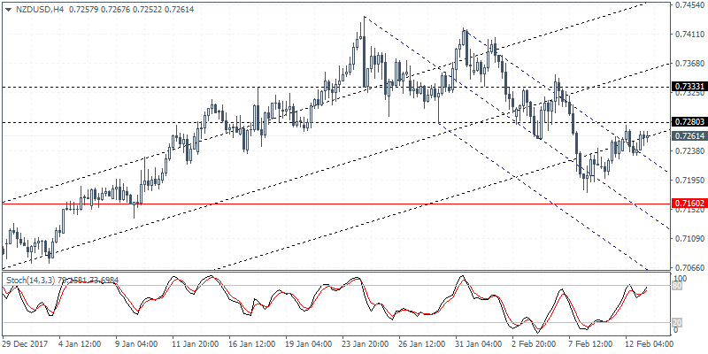 Intraday analysis 13-02-2018 NZDUSD